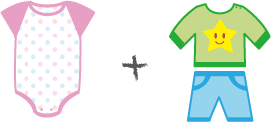 6ヶ月〜の赤ちゃんの服