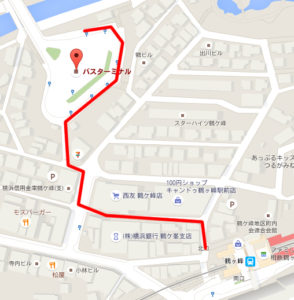 鶴ヶ峰バス停地図