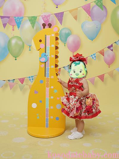 スタジオアリス1歳の誕生日