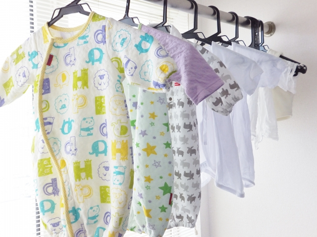 新生児服の洗濯
